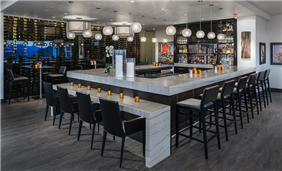 Enjoy lite bites and libations at the bar in CIELO Restaurant