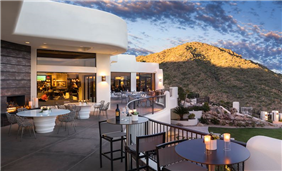 Take in the panoramic views from CIELO's outdoor patio area