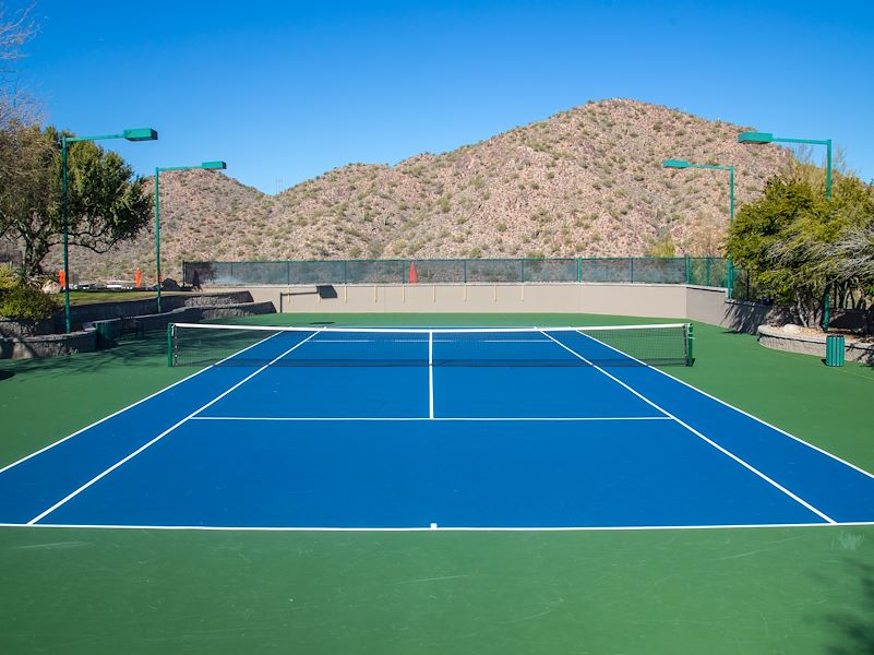 Lighted Tennis in Scottsdale Hotel