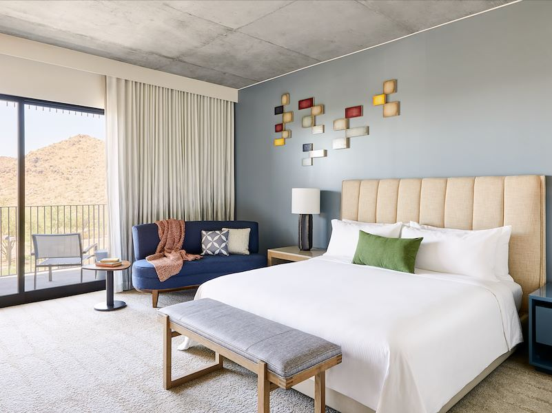 Mountain View Guest Rooms at ADERO Scottsdale Hotel Resort
